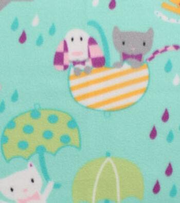 Blizzard Fleece Fabric 59''-Raining Cats & Dogs
