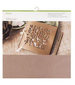 "Cricut Soft Metallic Leather 12x12""-Rose Gold"