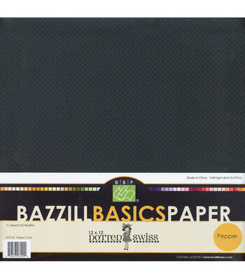 Bazzill 12''x12'' Dotted Swiss Cardstock-25PK