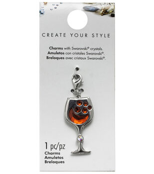 Swarovski Create Your Style Wine Glass Charm-Red Crystal