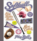 Paper House 3-D Sticker-Softball