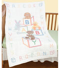 Stamped White Quilt Crib Top 40\u0022X60\u0022-Baby Blocks