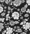 Buttercream™ Audrey Collection Cotton Fabric-Black White Floral