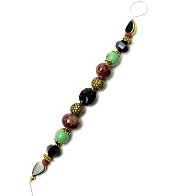"""Jesse James 7"""" Strung Beads-Mayan Glass & Ceramic Beads"""