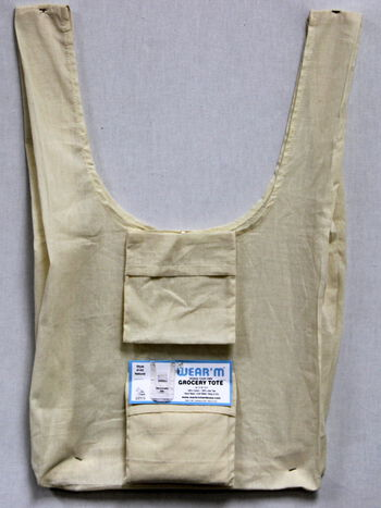 Wear'm Grocery Tote Natural with pouch