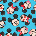 Disney Mickey & Minnie Fleece Fabric-Emoji Faces