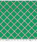 Christmas Cotton Prints - Candy Cane Plaid green