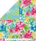 Double Faced Quilt Fabric 42\u0027\u0027-Watercolor Floral