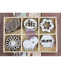 Free Spirit Laser Cut Wood Icons In A Box 24 Pieces-6 Styles Of embellishments