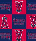 Los Angeles Angels Fleece Fabric 58\u0022-Block