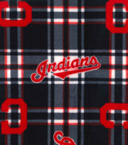 Cleveland Indians Fleece Fabric 58''-Plaid, , hi-res