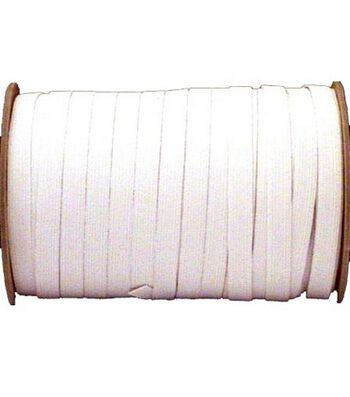 "Braided Elastic 1/2"" Wide 144 Yards-White"