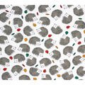 Super Snuggle Flannel Fabric-Fall Hedgehog Tossed