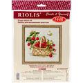 RIOLIS 11.75\u0027\u0027x11.75\u0027\u0027 Counted Cross Stitch Kit-Basket of Raspberries