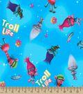 Trolls Troll Life Print Fabric