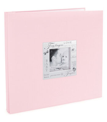 "MBI Expressions Post Bound Album w/Window 12""X12""-Baby - Pink"