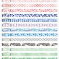 Park Lane Washi Tape Tube 13/Pkg-Watercolor Marble