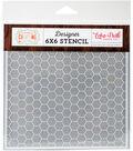 Echo Park Stencil 6\u0022X6\u0022-Honeycomb