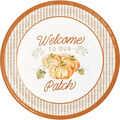 Simply Autumn 8 pk 9\u0027\u0027 Dinner Plates-Pumpkins & Welcome to Our Patch