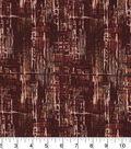 Wide Cotton Fabric-Brown Crosshatch