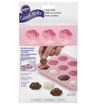 Wilton 12-Cavity Rose Silicone Candy Mold