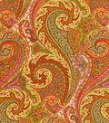 Home Decor 8\u0022x8\u0022 Fabric Swatch-Williamsburg Jaipur Paisley Tumeric
