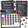 Twinkle Twinkle You\u0027re A STAR! Calendar Bulletin Board Set