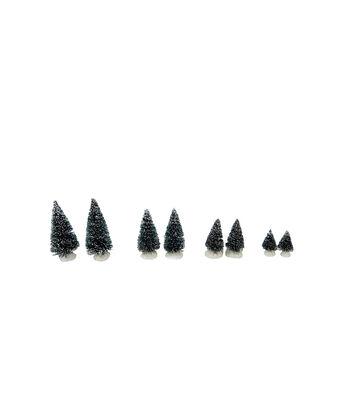 Maker's Holiday Christmas 8 pk Mini Trees-Blue