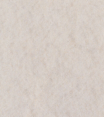 Holiday Metallic Tulle Netting-White & Gold