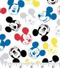 Disney Mickey Mouse Flannel Fabric 42\u0022-Mickey Heads