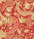 Waverly Lightweight Decor Fabric 54\u0022-Rhapsody/Crimson
