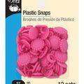 Dritz Plastic Snaps-Hot Pink Sunflower