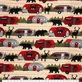 Super Snuggle Flannel Fabric-Buffalo Check Campers & Animals
