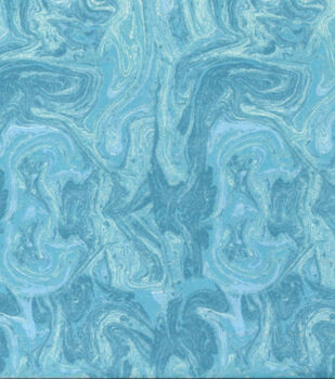 Wide Flannel Fabric-Aqua Marble