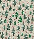 Christmas Cotton Fabric 43\u0022-Zig Zag Christmas Trees