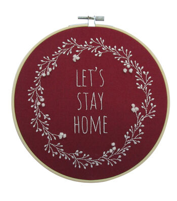 Simply Autumn Hoop-Lets Stay Home