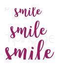 Stamping Bella 3 pk Cut it Out Sentiment Dies-Smile
