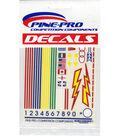 Pine Car Derby Decal 4\u0022X5\u0022-Primaries