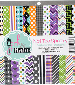 Pink & Main 24 sheet 6''x6'' Double-Sided Paper Pad-Not Too Spooky