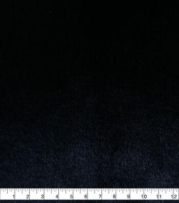 Fashion Faux Fur Fabric-Soft Bear Black