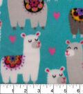 Anti-Pill Fleece Fabric 59\u0022-Floral Llama