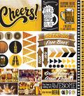Craft Beer Elements Stickers 12\u0022X12\u0022
