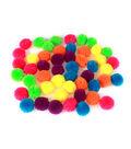 Fab Lab Yarn Pom Poms 50/Pkg-Solid Multicolor