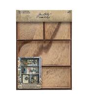 """Tim Holtz Idea-Ology Vignette Divided Box 7""""X10""""-4 Compartment, , hi-res"""