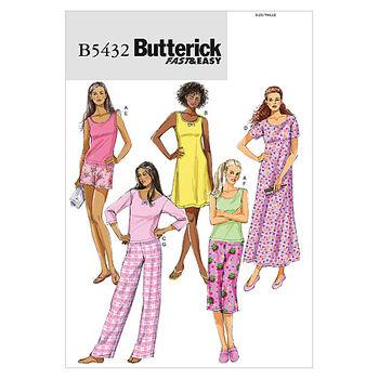 Butterick Misses Sleep & Lounge-B5432