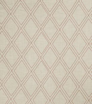 "Jaclyn Smith Lightweight Decor Fabric 54""-Alvin/Scarlet"