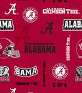 University of Alabama Crimson Tide Fleece Fabric 58\u0022-Allover