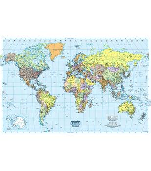 "World Laminated Map, 50"" x 33"""