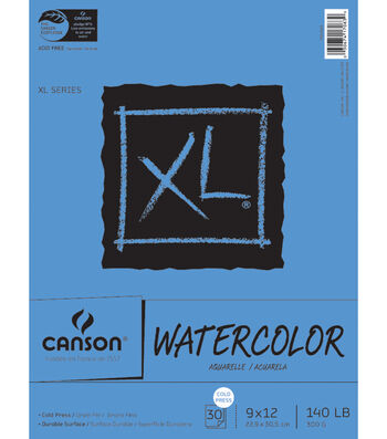 "Canson XL Watercolor Paper Pad 9""X12"""