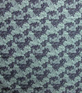 Quilter\u0027s Showcase Cotton Fabric-Navy & Teal Sketched Floral
